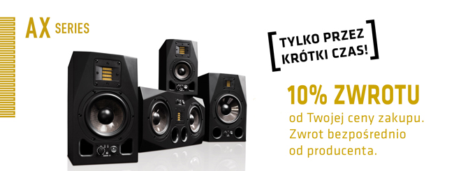 10% ZWROTU ZA MONITORY ADAM AUDIO