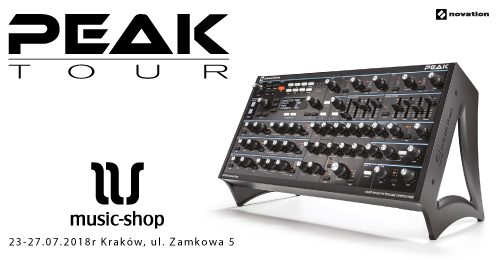 NOVATION Peak Tour w Krakowie Music-Shop.pl | 23-27.07.18