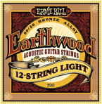 Ernie Ball Earthwood 12-STRING LIGHT (struny do gitary akustycznej) 2010